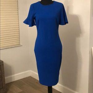Cobalt blue Calvin Klein dress